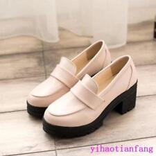 Stylish Japanese Women school Lolita Maid JK Uniform Shoes Platform Leisure Chic