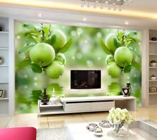 3D Green Apple Fruit 4647 Wall Paper Wall Print Decal Wall AJ WALLPAPER CA