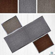 Faro Grey Beige or Terracotta Non Slip Rubber Backed Runner Door Floor Mat Rug