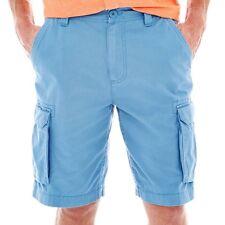 St. John's Bay Legacy Cargo Shorts Nottingham Blue New Size 42 Msrp $34.00