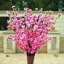 Artificial Cherry Peach Blossom Fake Silk Flower Home Garden Party Floral Decor