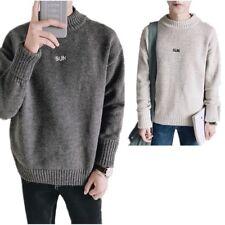 uomo in lana maglione TERMICO Maglia a collo alto pullover inverno maglieria