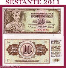 YUGOSLAVIA   10 DINARA 1978   P  87a   FDS / UNC