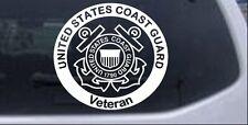 United States Coast Guard Veteran Car or Truck Window Laptop Decal Sticker