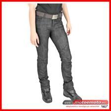 Jeans Da Moto Donna Con Protezioni e Fibra OJ Muslce Lady Pantaloni Nero