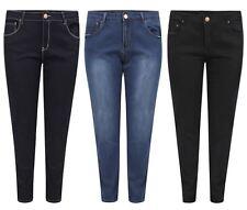 New Ladies Stone Wash Skinny Denim Jeans 14-26