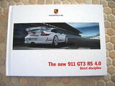 PORSCHE 911 997 GT3 RS 4.0 PRESTIGE SALES BROCHURE 2011 USA EDITION VERY RARE