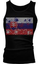 Slovakia Spatter Flag Slovensko Slovenská Slovak Pride Boy Beater Tank Top
