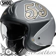 Shoei J. O. Jo Gratte Ciel Gris Casque Moto Jet Ouvert + Visière Intérieur