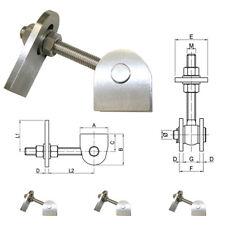Torband Edelstahl Torbänder Scharnier 2-fach verstellbar Laschen V2A VA Zaun Tor