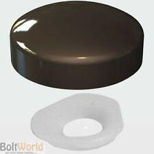 BROWN PLASTIC DOME SCREW COVER CAP SMALL 2 PIECE CLICK ON - PLASTIDOME CAPS