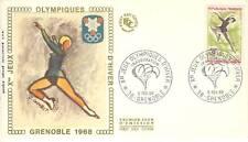 PREMIER JOUR J.O. DE GRENOBLE 1968 PATINAGE ARTISTIQUE