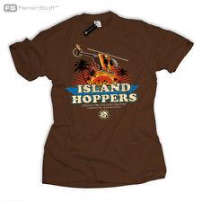 ISLAND HOPPERS Tom Magnum TV Selleck Fan 80's Hawaii T-Shirt Thomas Retro Kult