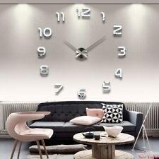 2019  Free Shipping New Clock Watch Wall Clocks Horloge 3d Diy Acrylic Mirror