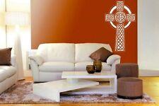 Ornamentali croce celtica sopra-grande Adesivo Vinile & Parete Autoadesivo. molti Colori. NUOVO!
