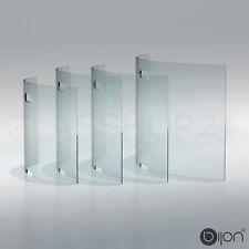 Funkenschutz gebogen Glas Ofenschutz Schutzgitter Kamin Ofen Funkenschutzgitter