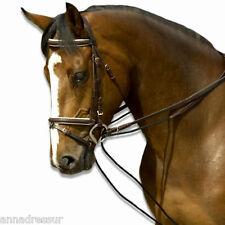 English Leather Tirage rênes avec corde ou élastique insérer top qualité noir & brown
