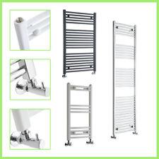 Curved and Flat Heated Towel Rail Radiator Bathroom Central Heating Ladder Rad