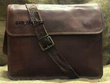 Men's New Genuine Goat Leather Messenger Laptop Shoulder ipad pick up Bag