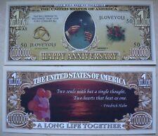 SEGNALIBRO banconota DOLLARO matrimonio anniverario san valentino amore regalo