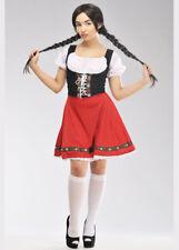 Womens Heidi Style Red Bavarian Costume