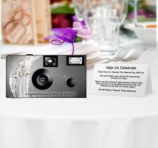 5 Silver Bells Disposable Cameras-PERSONALIZE-wedding camera/anniversary (51201)