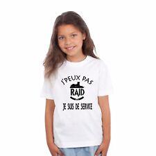 T-shirt ENFANT J'PEUX PAS JE SUIS DE SERVICE RAID
