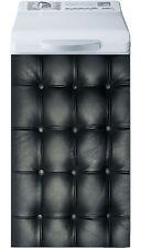 Sticker lave linge déco électroménager Capitonné noir réf 16 40x80cm