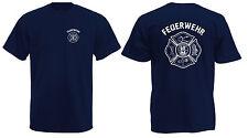 Feuerwehr T-Shirt Front und Rückendruck inkl. Feuerwehrsignet X12