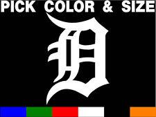 DETROIT TIGERS LOGO 7YR VINYL CAR DECAL STICKER MLB Old English D 4 car or truck