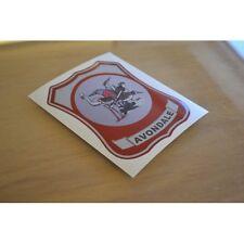 AVONDALE Caravan Retro (RESIN DOMED) Panel Badge Sticker Decal Graphic - SINGLE