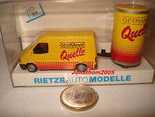 RIETZE 80092 - FORD TRANSIT remorque publicitaire QUELLE  - 1/87° HO
