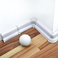 52mm PVC Fußleisten Sockelleisten LAMINAT ab 15m SPARPAKET Dübel Zubehör SILBER
