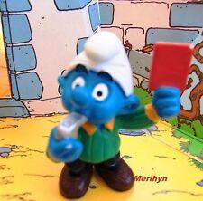 20472 Schtroumpf arbitre Smurf puffo pitufo puffi carton rouge schtroumpfette