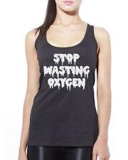 Smettere di sprecare ossigeno-Carino Goth Da Donna Canotta Tank Top