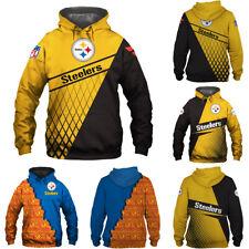Pittsburgh Steelers Hoodie Football Training Pullover 3D Print Sweatshirt Jacket