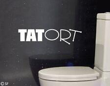 Wandtattoo Tatort Badezimmer Toilette WC Bad Wandaufkleber Wandsticker uss398