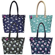 Large Big Handbag Shopper Style Shoulder Bag Ladies Printed Patterned Zipped