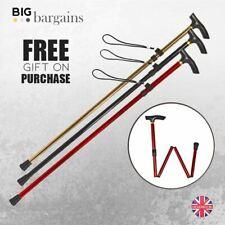 Folding Walking Stick Aluminium Adjustable Fordable Lightweight Non Slip Cane