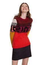 Desigual Ottawa Bright Colour Block Logo Sweater XS-XL UK 8-16 RRP£84