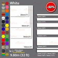WHITE Roll PINSTRIPE Car Model Bike Coachline TAPE Decal Vinyl Sticker 2mm-100mm