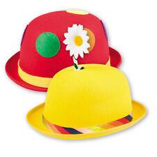 Faschingshut Clownshut Melone - lustige Clownshüte Clownmelone - gelb oder rot