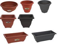 Recipienti per piante vasi vasche TERRACOTTA Grafite rettangolare ovale poco profondi