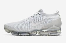 New Nike Men's Air VaporMax Flyknit 3 Shoes (AJ6900-102)  White/Pure Platinum