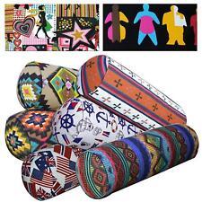 Bolster Cover*Cafe Cotton Canvas Neck Roll Tube Yoga Massage Pillow Case*AL4