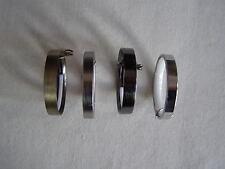 28mm métal Tringle à rideaux Anneaux - CHROME, chromé mat, noir nickel,