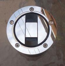 Suzuki Espejo Pulido de Acero Inoxidable Tapa de combustible de gasolina CubiertajamberryNailWrapsmediahojadulceSplashSSEretirado