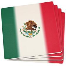 Cinco De Mayo Mexican Flag Set of 4 Square Sandstone Coasters