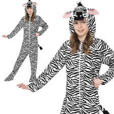 Zebra Jumpsuit Costume Boys Girls Book Day Wild Animal Fancy Dress Outfit