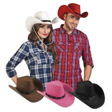 Western Cowboyhut Cowgirl Hut Kostüm Verkleidung Zubehör Karneval Fasching